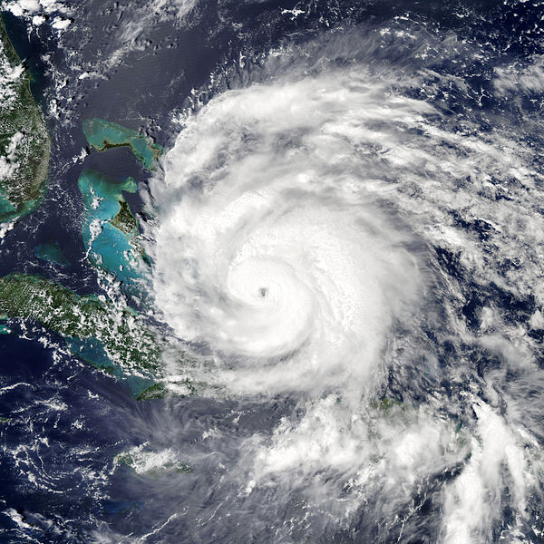 Satellite Imagery of Hurricane Irene at its highest intensity:  Category 3 several days before making landfall on the Outer Banks of North Carolina.